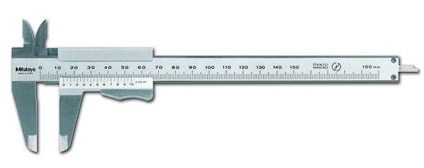 531-101 Nóniuszos tolómérők rugós rögzítővel 0-150 mm